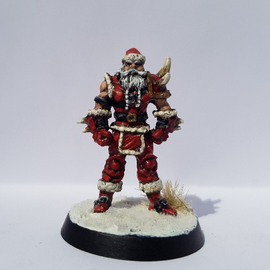 Painted Blood BowlSanta