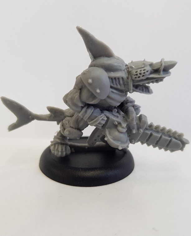 Rykars Blood Bowl Sharkman Chainsaw & Skeleton Werewolf Re-released