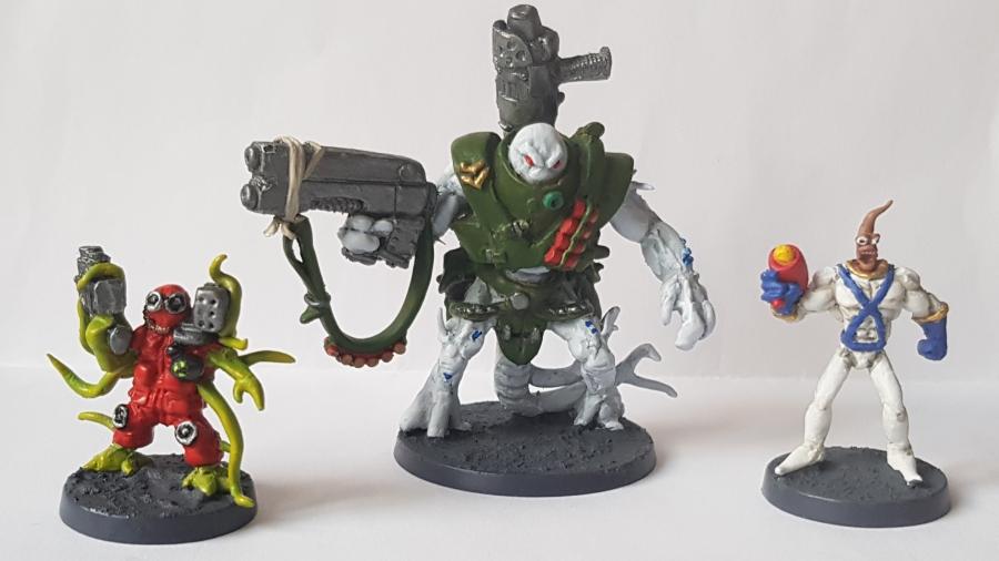 Painted Alien BountyHunters